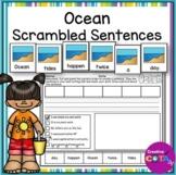 Summer Ocean Scrambled Sentence Cards and Worksheets
