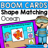 Summer Ocean Shapes Math Centers | Digital Game Boom Cards Distance Learning