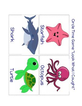 "Summer Ocean Theme Game ""Ocean Animals-Look! What I Caught!"""