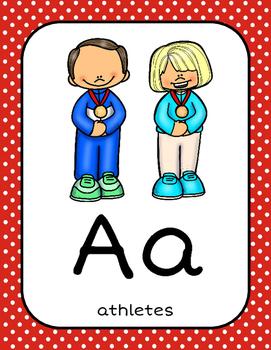 Summer Olympics Classroom Alphabet