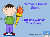 Summer Olympic Fact and Opinion Task Cards