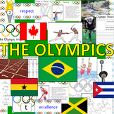 Summer Olympics 2016 Rio pack- display, design, math, powerpoints