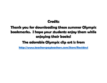 Summer Olympic Joke Bookmarks
