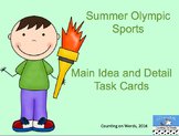 Summer Olympic Main Idea and Detail Task Cards