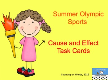 Summer Olympic Task Cards - ELA skills Bundle