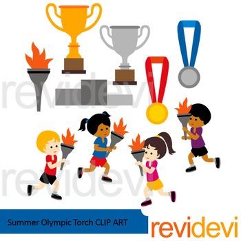 Summer Olympic Torch Clip art - Sport clipart