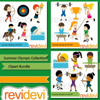 Summer Olympic clipart bundle (3 packs)