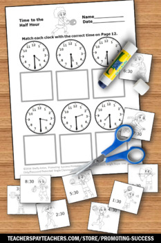 Telling Time Worksheets, Summer Sports Theme, Special Education Math Review