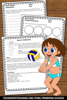 Reading Comprehension BUNDLE Summer Olympics Sports Theme