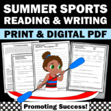Summer Olympics Sports Reading Comprehension Worksheets BUNDLE