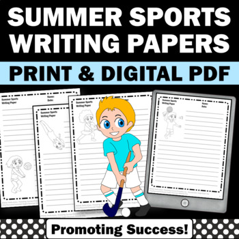 Summer Writing Papers, Olympics Sports Themed Classroom, Summer School