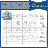 Summer Olympics Alphabet Tracing Worksheets