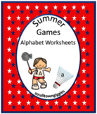 Summer Games Alphabet Worksheets Kindergarten Morning Work Special Education