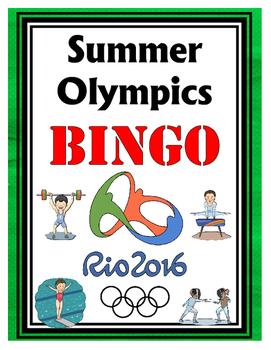 Rio Summer Olympics BINGO + 12 bonus pages of vocabulary words