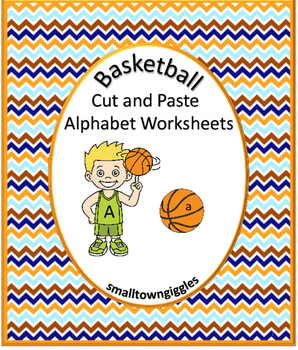 Alphabet Basketbal Kindergarten Special Education Autism Cut Paste Fine Motor