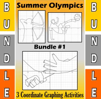 Summer Olympics - Bundle #1 - 4 Coordinate Graphing Activities