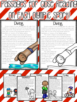 Summer Olympics Close Reads & Color Coding Text Dependent Questions
