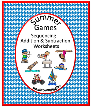 Summer Games, Sports Themed, Cut and Paste, Summer School,