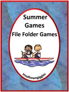 Summer Games File Folder Games Centers and Station Activit