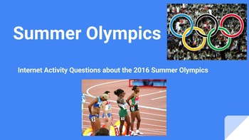 Summer Olympics Internet Questions Assignment