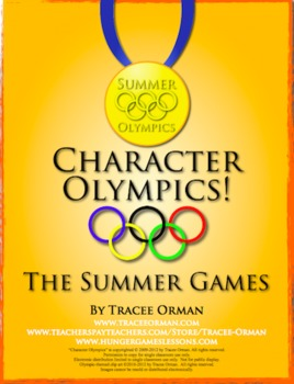 Summer Games Literature or Historical Figure Lesson Activity