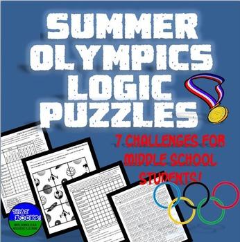 Summer Olympics Logic Puzzles Set