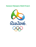 Summer Olympics Math Project with QR Codes