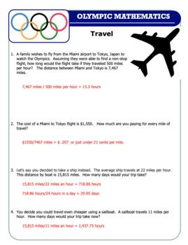 Summer Olympics Math Set