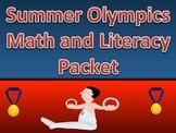 Summer Olympics Math and ELA Worksheet Packet with Keys