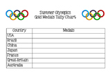 Summer Olympics Medals Graphing - Tally Chart & Graph