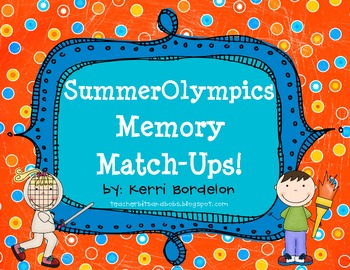 Summer Olympics Memory Match-Ups FREEBIE