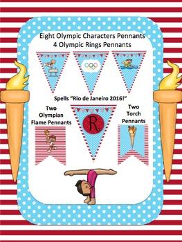 Summer Olympics *Pennant* Banner