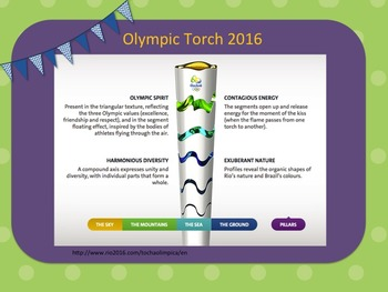 Summer Olympics Power Point- Pennent Banner and Writing Prompts /Bulleting Board