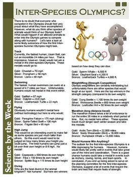 Summer Olympics Readings Set