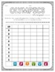 Summer Olympics Roll & Graph Activity and Date Sheets