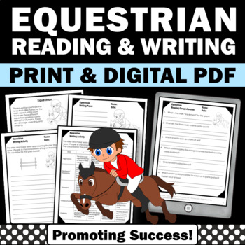 Summer Olympics Sports Theme EQUESTRIAN Reading Comprehension Worksheets