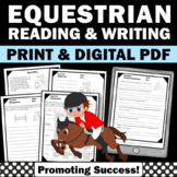 Summer Olympics Activities, EQUESTRIAN Summer Reading Worksheets