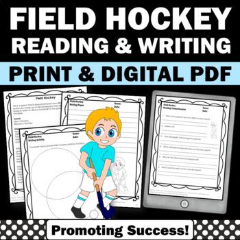 Summer Reading Comprehension Field Hockey Summer Olympics Sports Theme