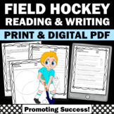 Summer Reading Comprehension Field Hockey Summer Olympics Worksheets