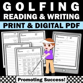 Summer Reading Activities GOLF Summer Olympics Sports Literacy Worksheets