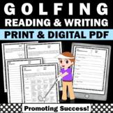 Summer Reading Activities GOLF Summer Olympics Worksheets