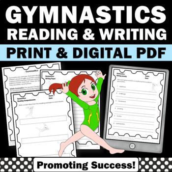 Summer Olympics Sports 2016 GYMNASTICS Literacy Worksheet