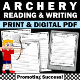 Summer School Packet ARCHERY Summer Olympics Worksheets