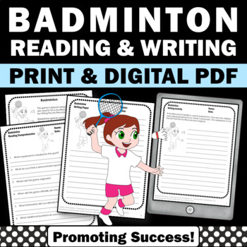 Summer Olympics Sports BADMINTON Reading Comprehension & W
