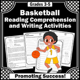 BASKETBALL Theme Summer Reading Worksheets, Summer Olympics Activities
