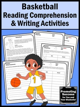 BASKETBALL Theme Summer Reading Worksheets, Summer Olympics Activities