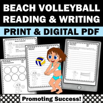 Summer School Reading Activities BEACH VOLLEYBALL Olympics Sports Theme