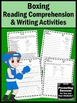 Summer School Reading Activities BOXING Summer Olympics Sports Theme