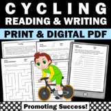 Summer School Reading Activities CYCLING Summer Olympics Worksheets
