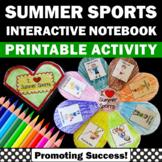 Summer Interactive Notebook, Summer Craftivity, Sports Theme